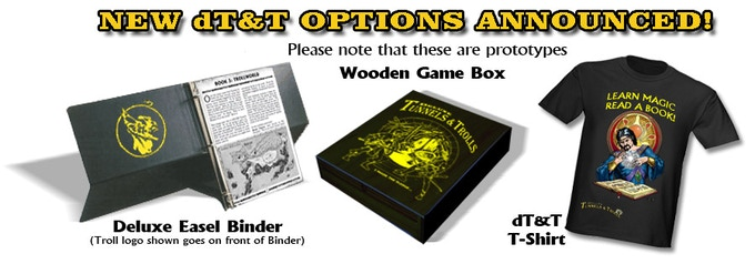 Box and binder unlock at $85K -- T-shirt is available NOW as pledge or option!