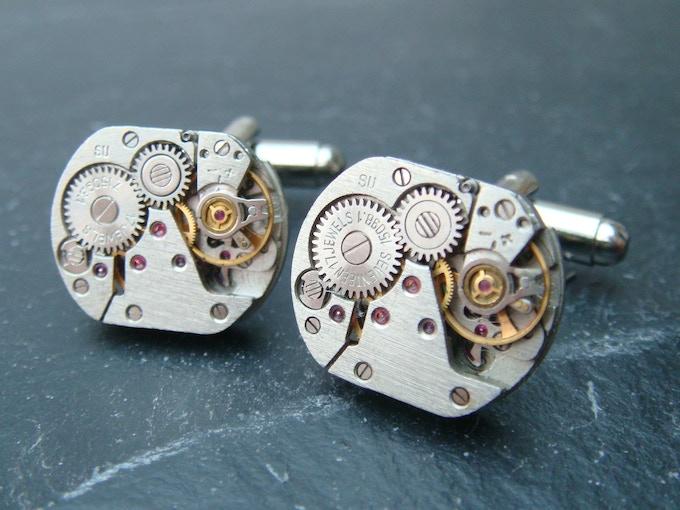 Type B watch movement cufflinks