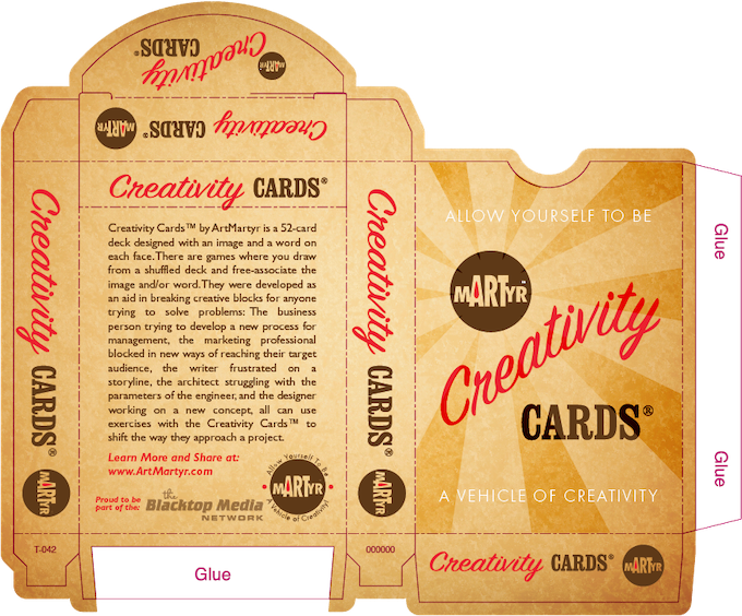 Flap Box Template from U.S. Playing Card Company