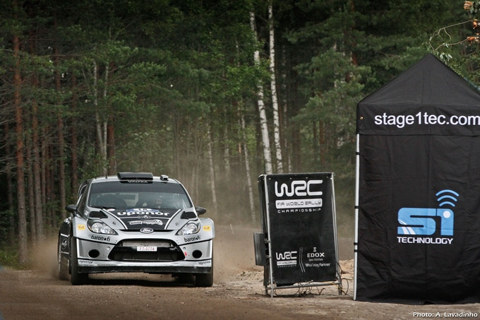 S1Tec Finish Line in WRC Rally Finland 2012