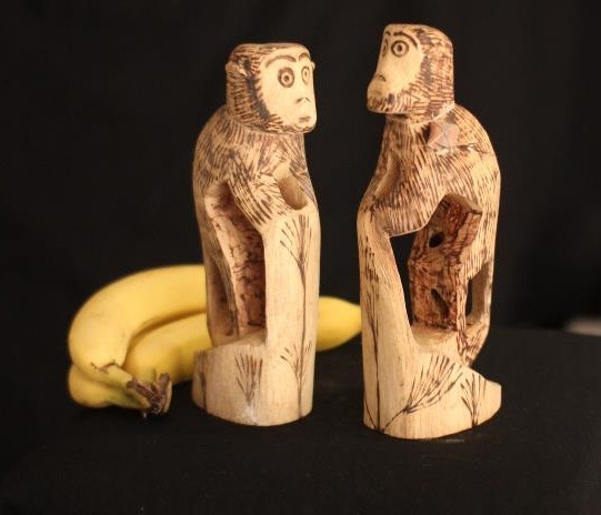 A hand carved wood sculpture by artisan from the Panambi'y tribe.