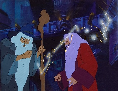 "Gandalf and Saruman from ""Lord of the Rings."""
