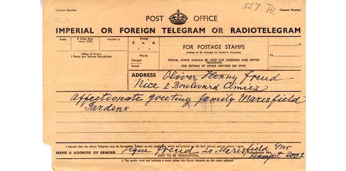 1938 • Radiotelegram