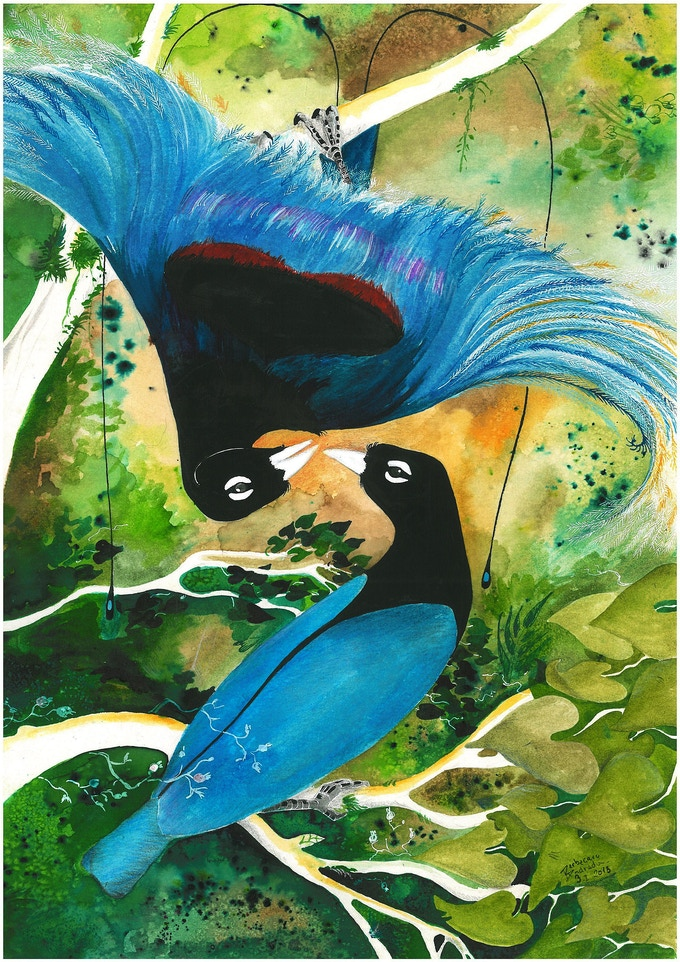 Blue Bird of Paradise by Andrada Berbecaru