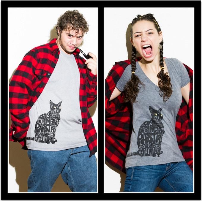 Liz Miele/Pasta cat shirt