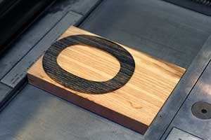 """wood type of the letter """"o"""""""