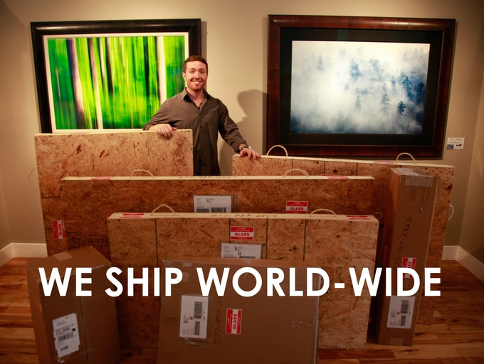 We insure all our packages. We ship world-wide!