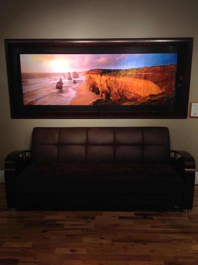 """85"""" image, shown framed (44 x 100 framed size)"""