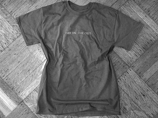 Silkscreened T-Shirt in Charcoal Grey