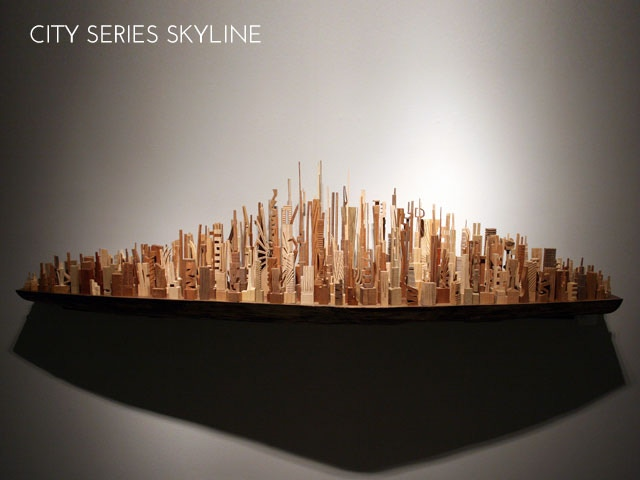 Click to see the making of City Skyline Shelf
