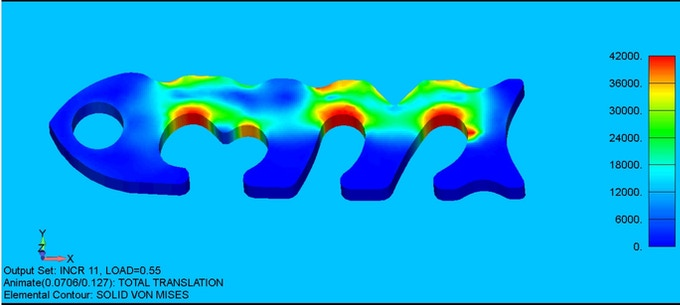 Finite Elemental Analysis for 6061 T-6 Aluminum