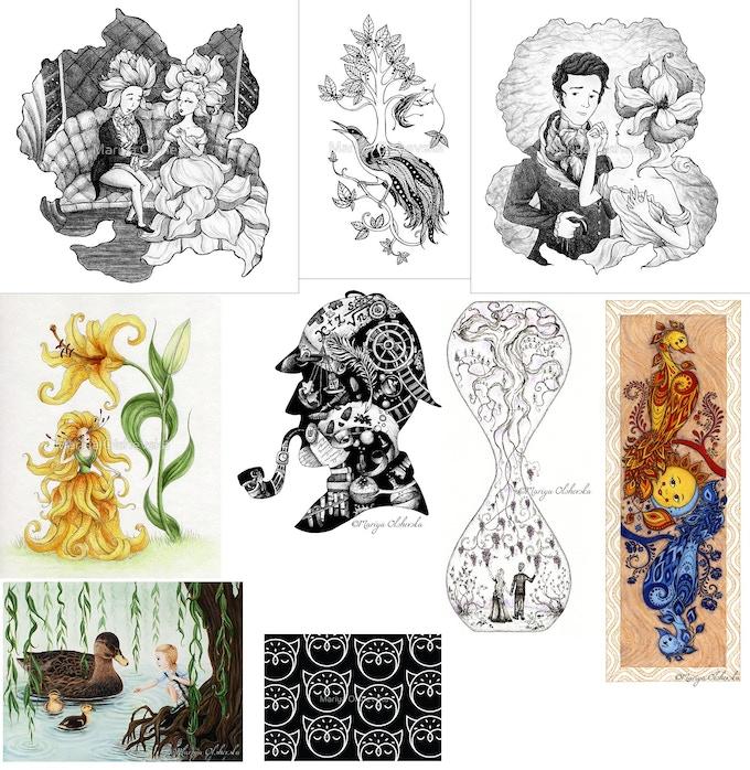 Prints by Mariya Olshevska