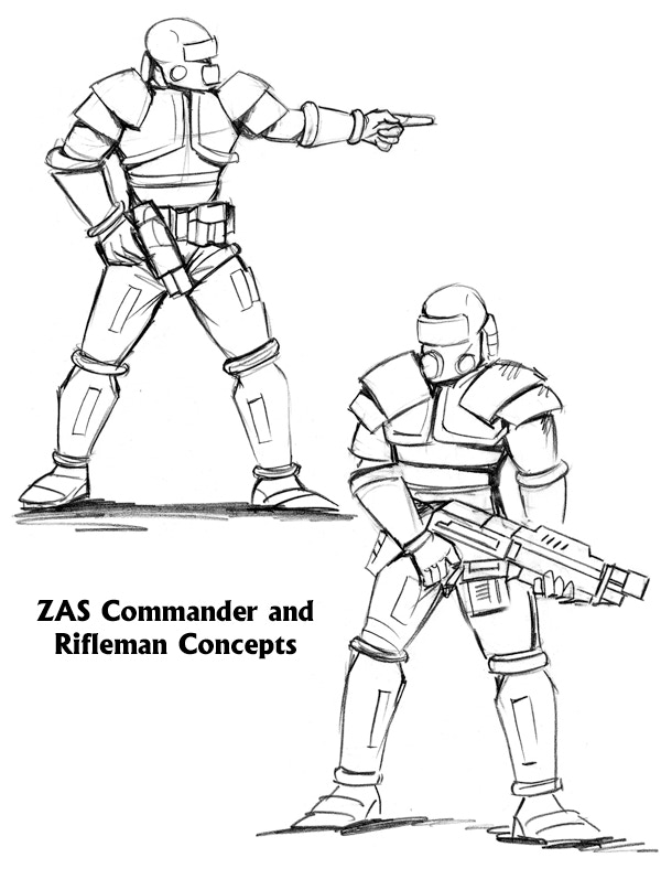 ZAS Company Commander and Rifleman