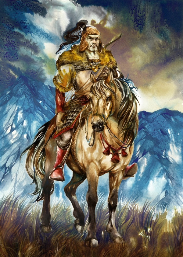 The infamous Attila the Hun - just one of ten formidable adversaries you will face in At The Gates.