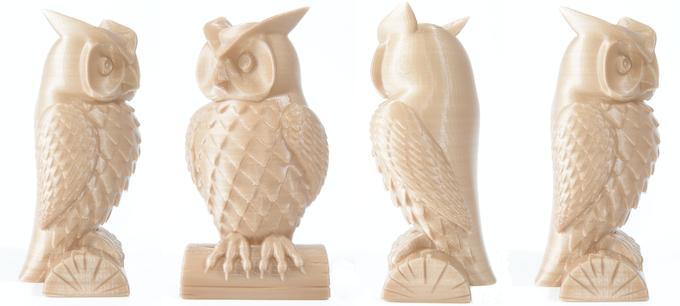 Owl model by cushwa on Thingiverse