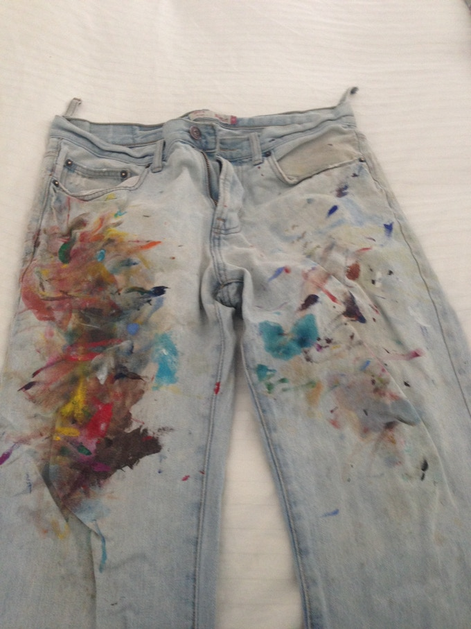 Custom Painted Pair of Your Favorite Jeans, by Brendan O'Connell.
