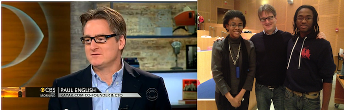 Paul on CBS, and with us after handing us the check.