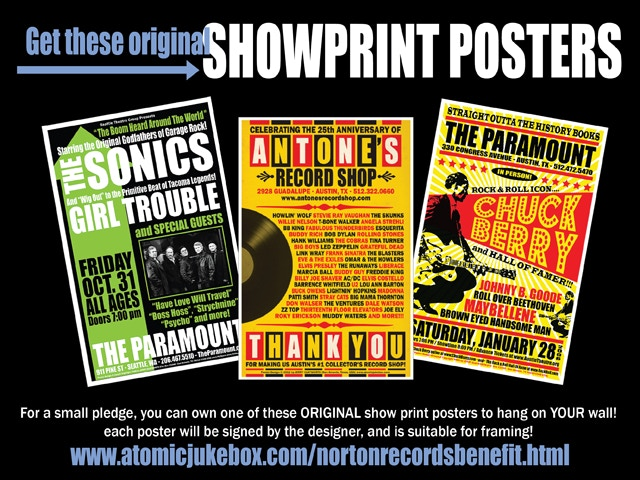 Original concert and showprint posters available for your pledge.