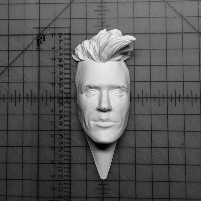 $75 Reward: Moz Head Relief in cold-cast porcelain + $25 Reward