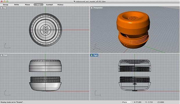 3D model of the exterior design