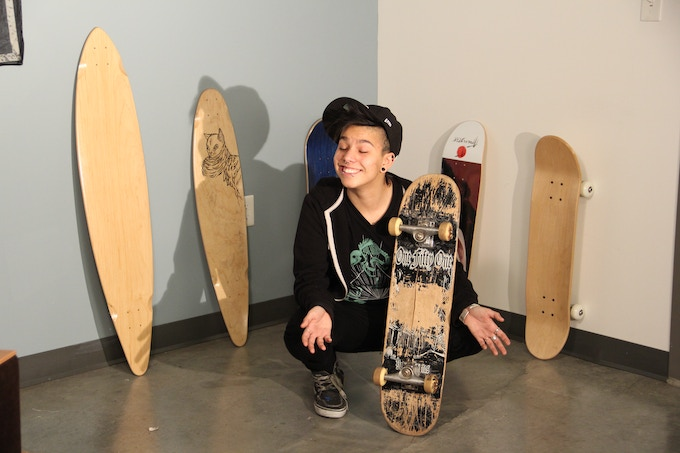 Me and the first skateboard I ever rode on