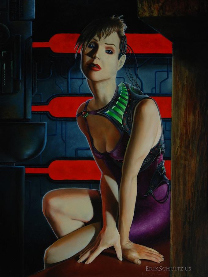 "NEMESIS original oil painting; 15""x20"""