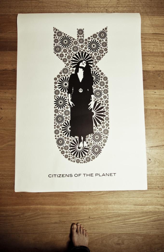 Street Art  'Peace Bomb'  Size, AO on Paper