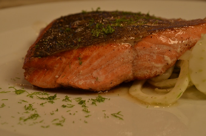 Pan-Roasted Salmon with Fennel Salad