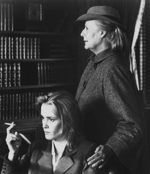 Kim and Jessica Lange in FRANCES.