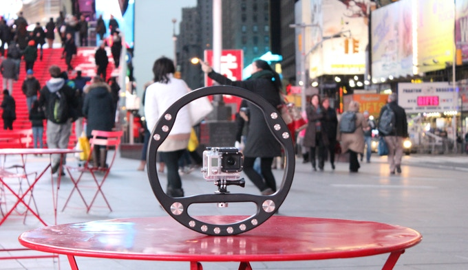 SteadyWheel... visiting Times Square, NYC.