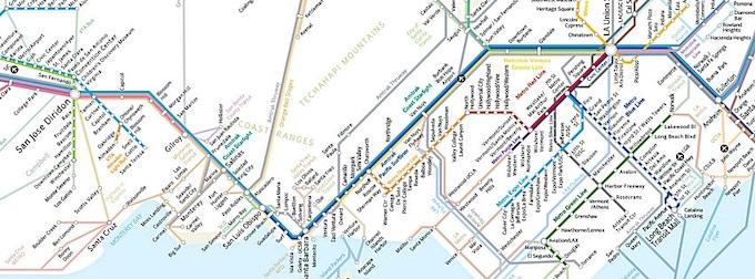 California Rail Map