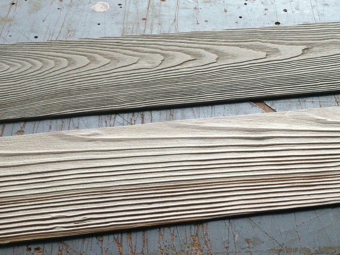 Sandblasted Wood: creating 3D texture from the natural wood grain