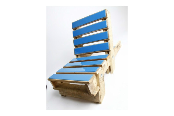 Pallet Chair with acrylic finish