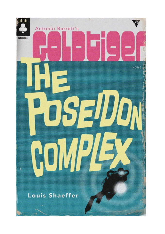 Cover to Shaeffer's novelisation of the first Goldtiger story.