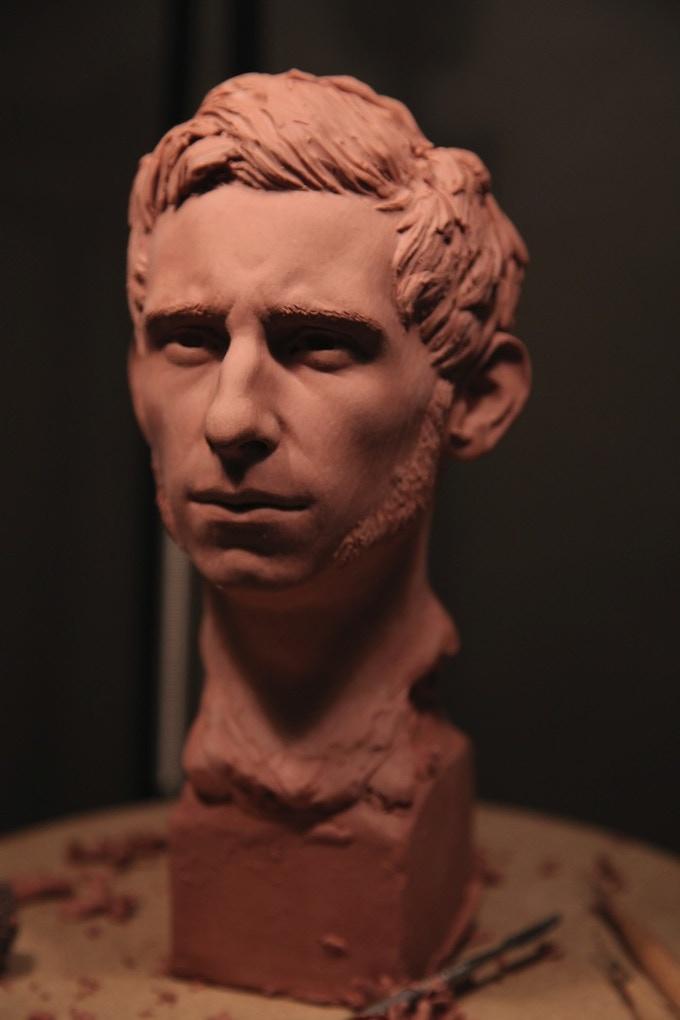 Nicholas Grimshaw, the narrator of this tale.(Sculpture by Arjen Tuiten).