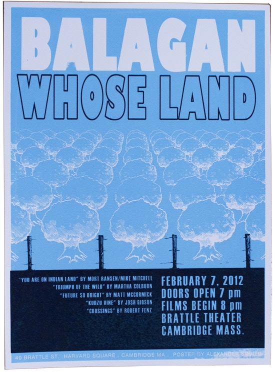 """""""Whose Land"""" poster by Alexander Squier"""
