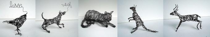 Wire Art by Nakisha (wireanimals.etsy.com)
