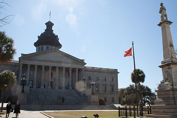 Confederate Flag Flies Today at the South Carolina Statehouse