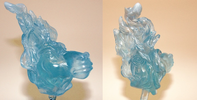 Final translucent blue ghost head for the GHA Resin Statue!