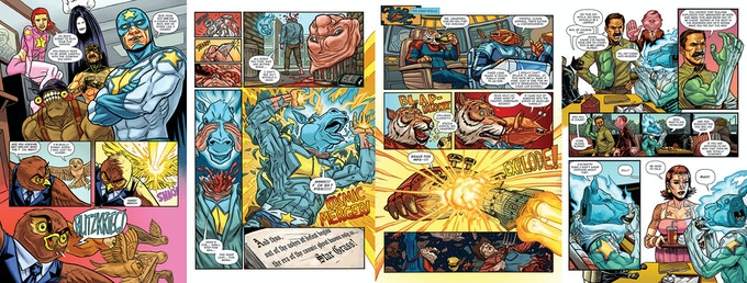 Some sample pages from the main story.