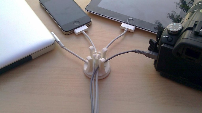 Charge all your devices and keep the cords tidy