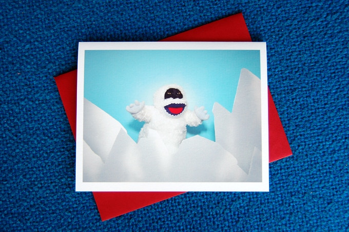 Abominable Snowman Greeting Card