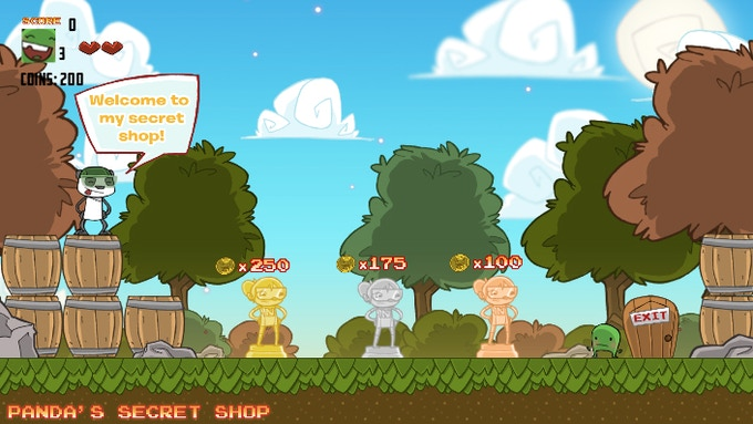 Collect coins to buy 1UPs, 2UPs, 3UPs, and more!