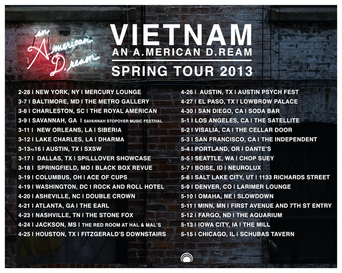 VietNam Spring 2013 Tour Dates