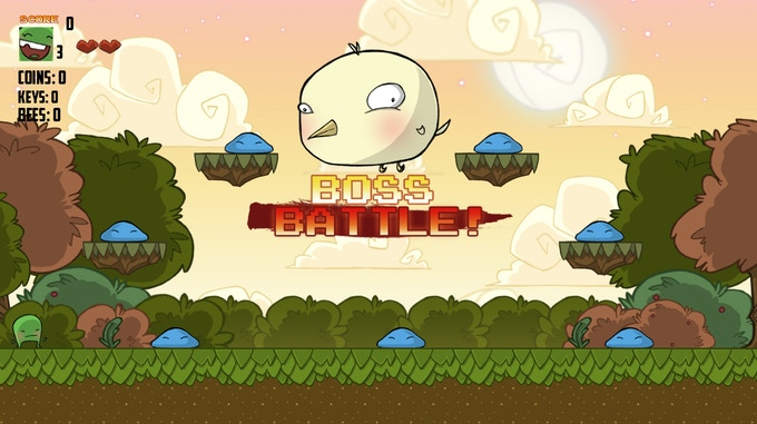 Boss battles at the end of each world will test your skills!