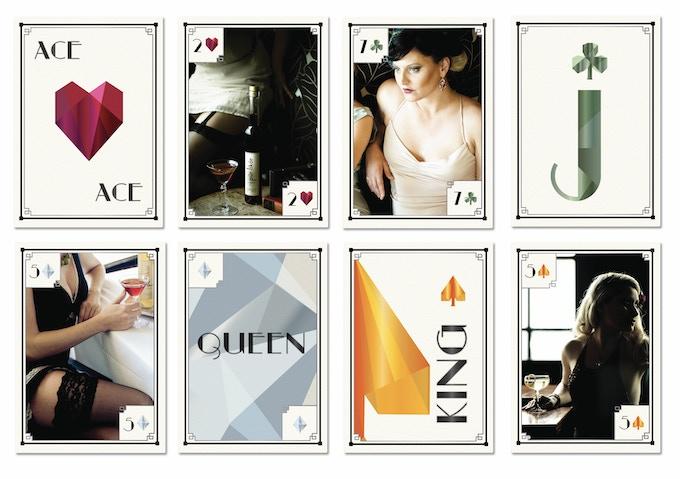 A sneak peak at our custom deck of cards.