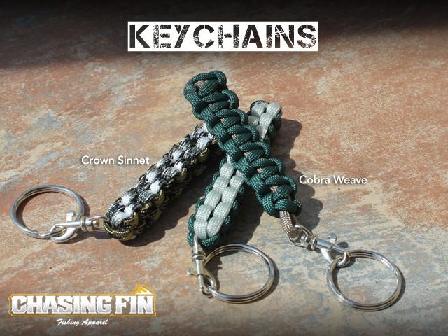 Keychain - Cobra or Crown Sinnet Weave