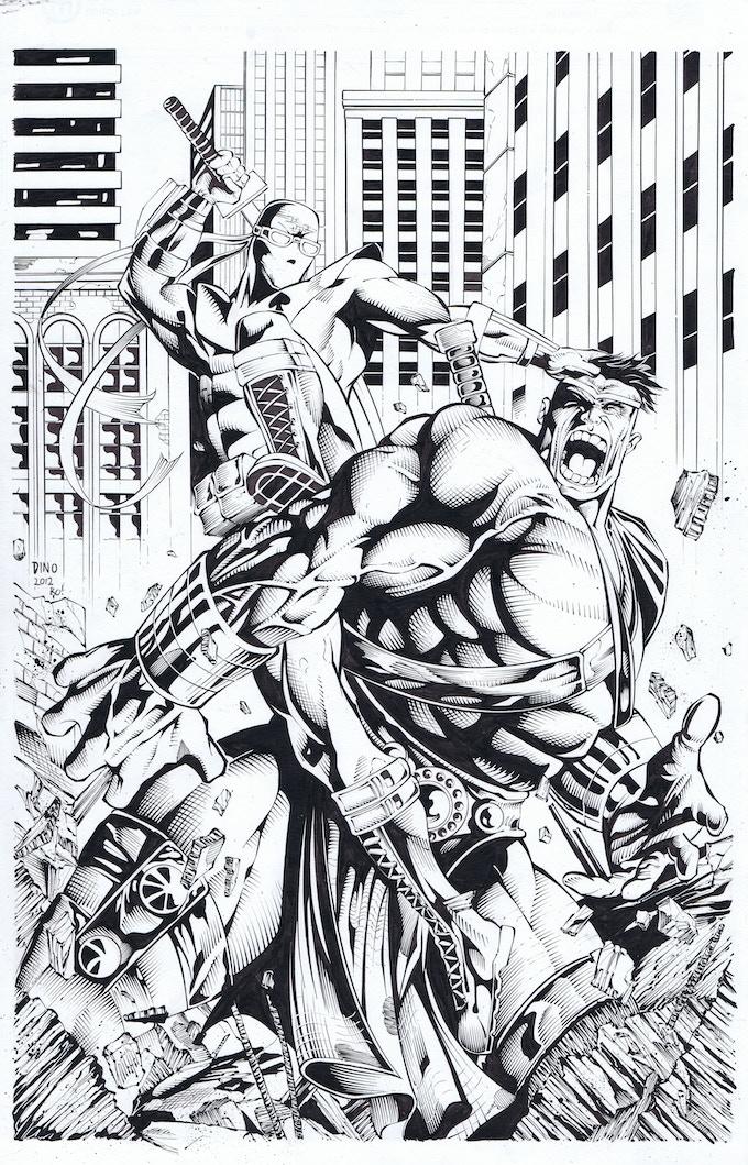Aceblade Vs Hulk by DINO and Tony Kordos