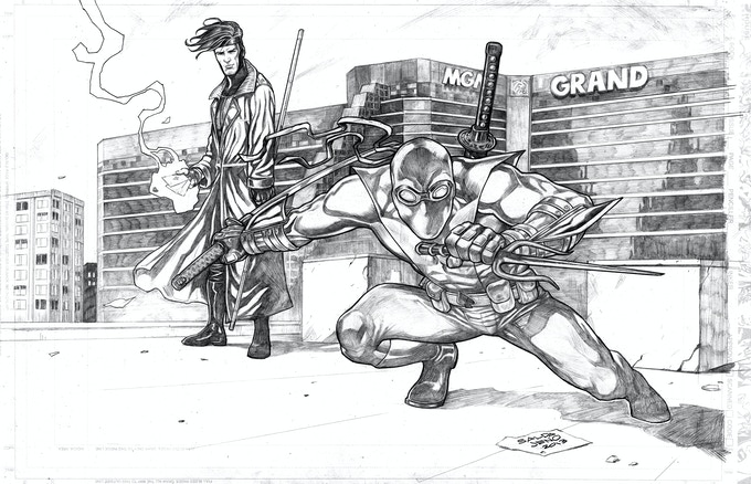 Aceblade and Gambit by Jason A. Saldajeno