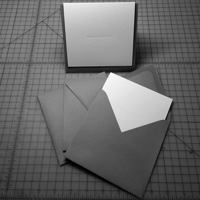 White Folded Cards w/ Grey Envelopes
